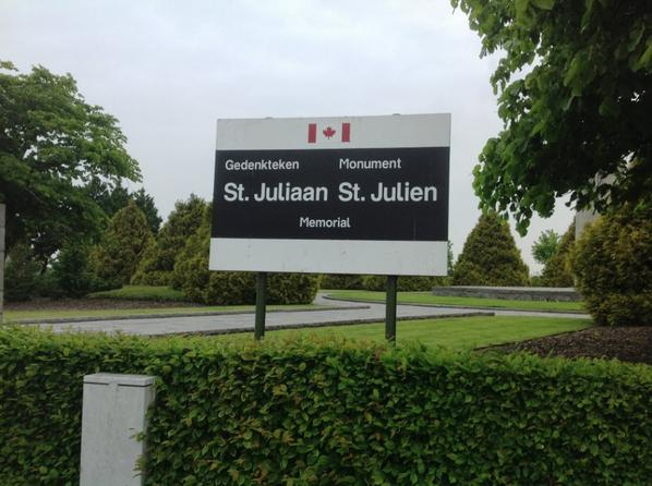 Monument Canadien de Sint Juliaan (Saint Julien)