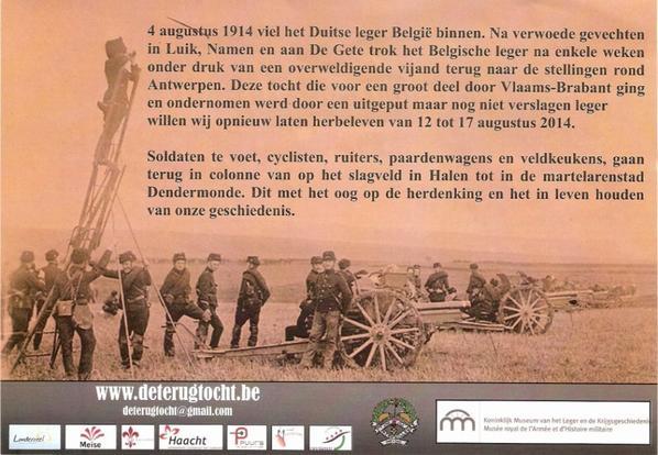La retraite de l' armée Belge