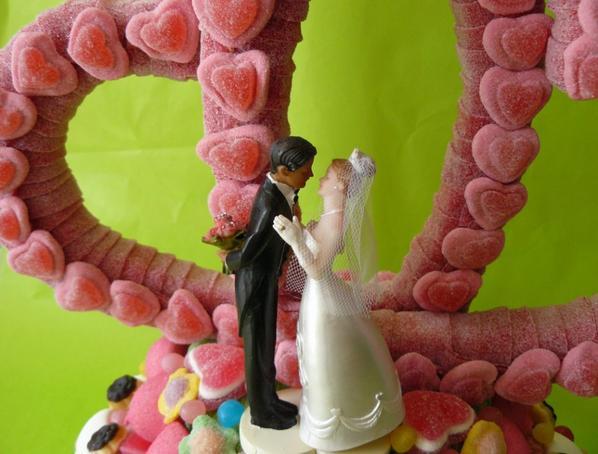 COEUR EN BONBON POUR MARIAGE