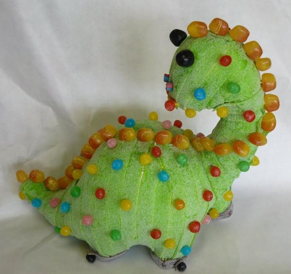 dinosaure en bonbon