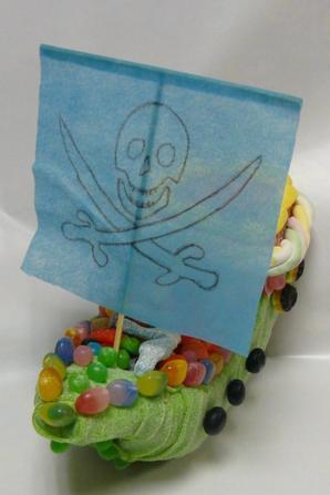 Bateau de Pirate tout en bonbon