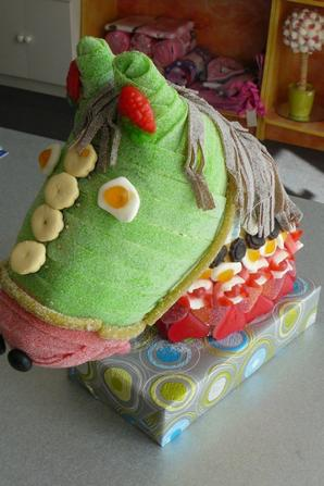 Cheval tout en bonbon 3D