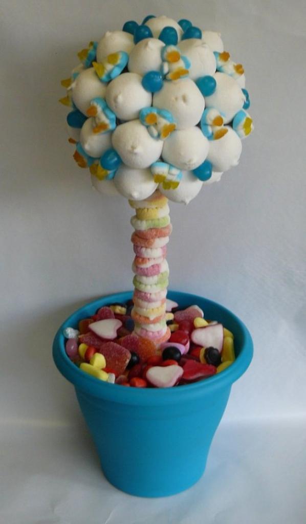 arbre en bonbon en pingouin