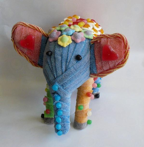 éléphant en bonbon