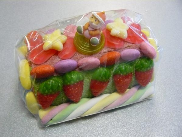 petit bûche de Noel en bonbon