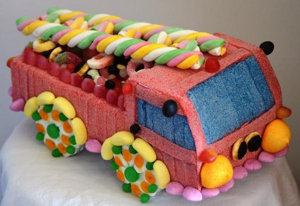 Camion de Pompier en bonbon