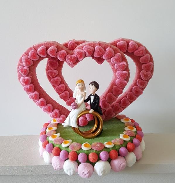 gateau coeur en bonbon