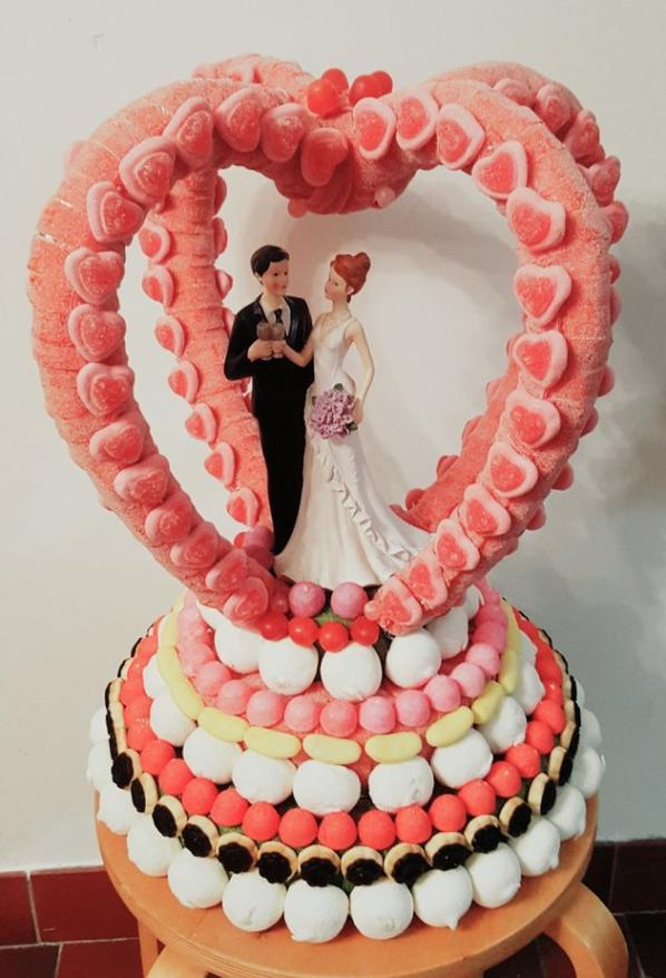 double coeur en bonbon