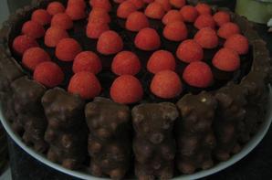 Gâteau chocolat fraise tagada