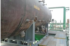 Montage et réglage d'un ballon de vapeur par deux grues 400 Tpoids = 92 T