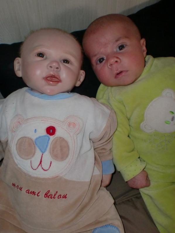 Mon fils Gabryel et mon reborn Nolan