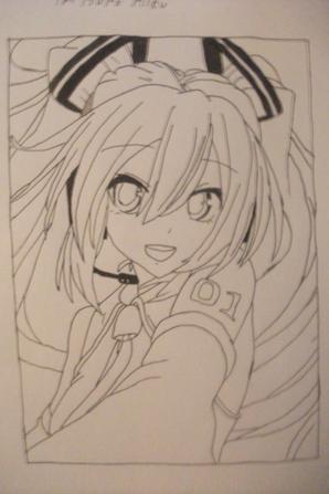 Dessin Hatsune Miku (+ preview avant la colo)