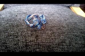 bracelet fil aluminium bleu et marron