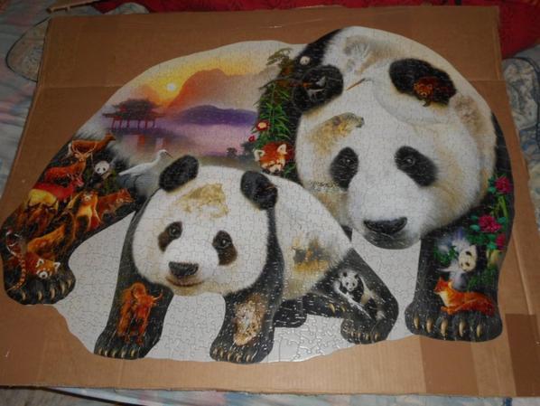 panda puzzle 1 000 pièces 2
