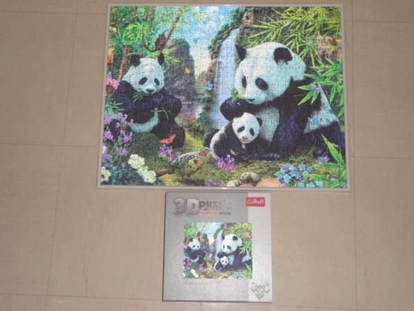 panda 3 D puzzle 9