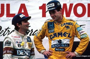Keke Rosberg (williams fw10) 1985 - Nelson Piquet et Ayrton Senna (Detroit 1987)