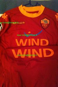 Maillot Porté et signé par Francesco Totti : AS Roma - Bayern Munich (Champions League 2010/2011)