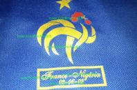 Maillot porté Yoann GOURCUFF : France - Nigeria 2009 (maillot braille)