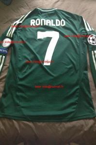 Maillot porté Cristiano Ronaldo : Ajax Amsterdam - Real Madrid (3 octobre 2012)