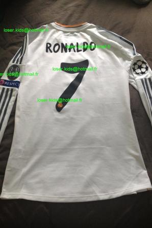 Maillot préparé Cristiano Ronaldo finale Champions League 2014 (Real Madrid - Atletico Madrid)