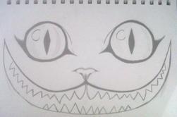 Dessin le chat de alice au pays des merveilles *3*