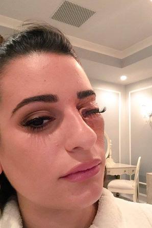 Nouvelles images de Lea Michele de @Screamqueens aiguille à l'oeil !!!