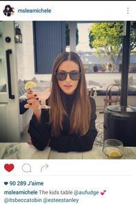 Lea Michele sur Twitter avec Becca Tobin