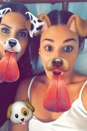 Lea Michele sur Snapchat