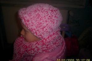 bonnet et écharpe de laine doublé