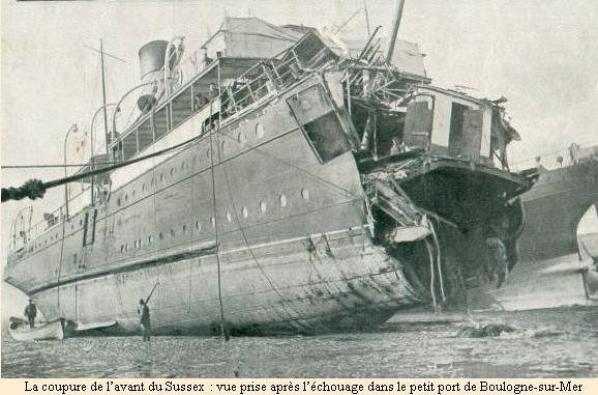 il y a 100 ans -Sussex (paquebot)
