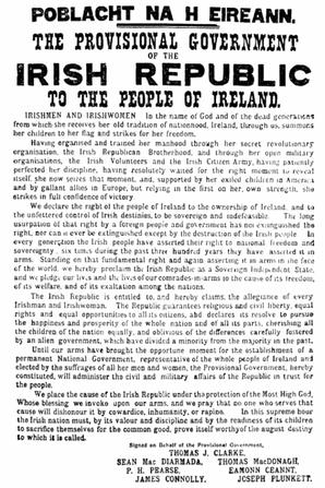 Le centenaire de l'Insurrection de Pâques 1916 irlandaise