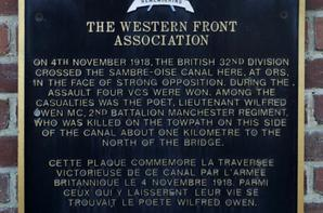 Les chemins de mémoire du Nord. Pas de Calais (Ce circuit Wilfred Owen )