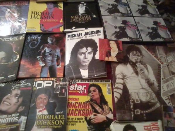 Ma collection Michael Jackson mon idole!!