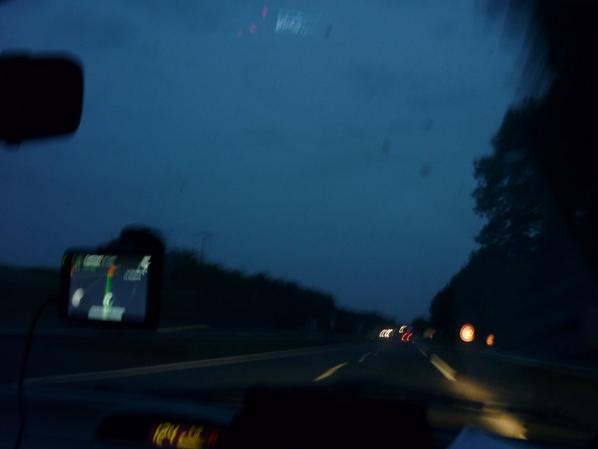 Sur la route pendant 14H !! Je peux vous dire que c'est crevant !!