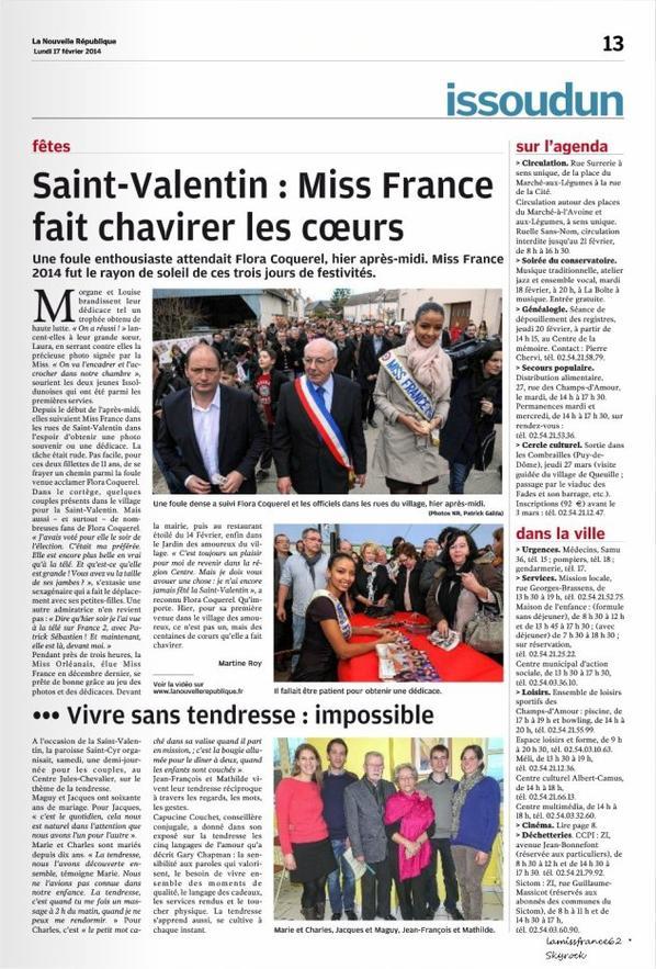 Flora dans le magazine  Figaro / Flora au  Plus grand cabaret du monde