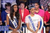 Flora sur France 2 avec miss monde