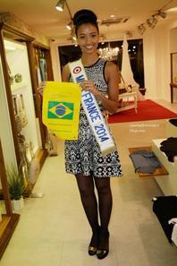 Flora au lancement  Mituhe Party by Taygra Brazil, à Paris le 6-03-2014