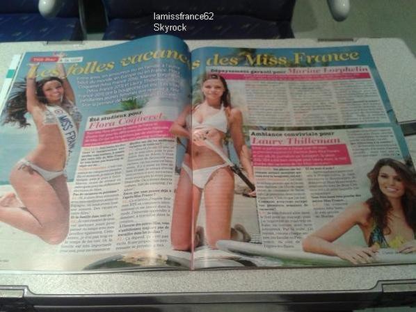 Nos 3 Miss France sont en vacances / Flora dans le journal de l' été