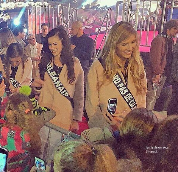 Les 33 Miss  au marché de Noël d' Orléans / Flora dans Closer du 28
