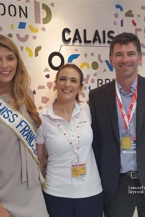 Camille au salon MIPIM de Cannes