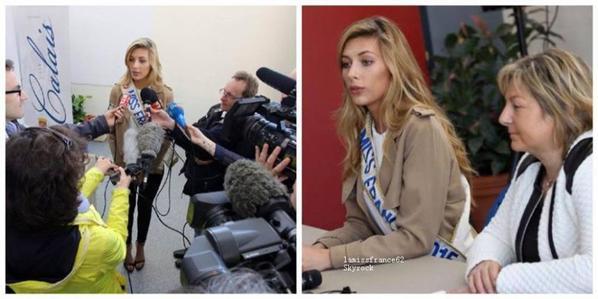 Camille en visite à Calais  où aura lieu l'élection de Miss France 2016?