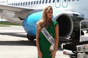 Camille à l'aéroport de Lille-Lesquin.
