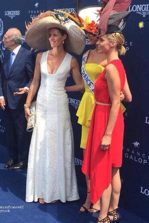 Camille et Chloé Mortaud et Sylvie Tellier au prix de Diane à Chantilly : La suite