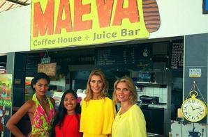 Camille et Sylvie Tellier visitent le marché de Papeete en Polynesie