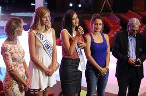 Camille  et Sylvie Tellier en conférence de presse pour Miss Réunion 2015 et assisteront aux répétitions