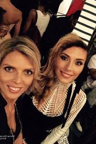 Camille à la fashion week en Republique Dominicaine avec Sylvie Tellier et Jean Paul Gaultier