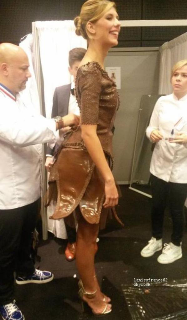 Camille au salon du chocolat