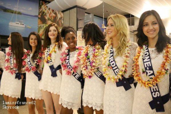 1er jour : Camille et les 31 Miss sont arrivé à Tahiti