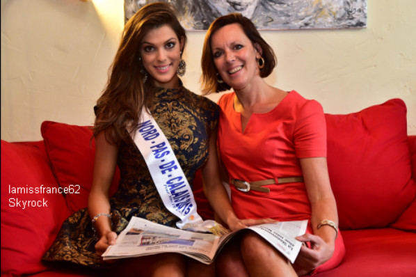 Iris Mittenaere attaque sa première journée en tant que Miss France, à Paris