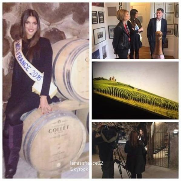 Iris et Sylvie Tellier visite des caves du Champagne COLLET